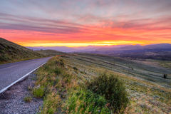 Sunrise on the mountain Highway Royalty Free Stock Photos