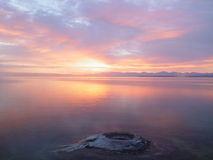 Sunrise and Mountain Lake Stock Image