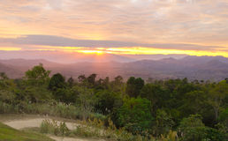 Sunrise at mountain landscape Royalty Free Stock Image