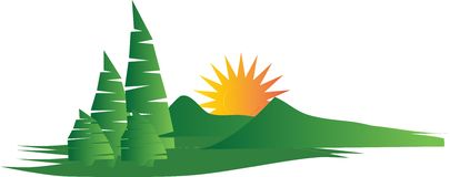 mountain and forest badge logo stock image image 19729901