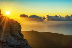 Sunrise in mountain Royalty Free Stock Photos