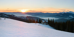 Sunrise mountain panorama Stock Image