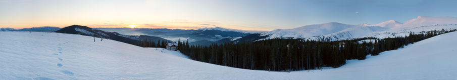 Sunrise mountain panorama Stock Photos