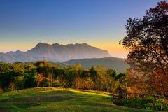 Sunrise at mountain range Royalty Free Stock Photo