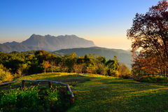 Sunrise at mountain range Stock Photography