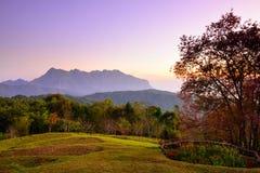 Sunrise at mountain range Stock Image