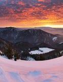 Sunrise in mountain - Slovakia Fatra Stock Photography