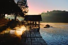Sunrise on the mountain Royalty Free Stock Photos