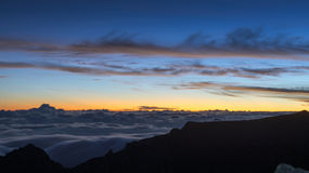 Sunrise on the mountain top Stock Photos
