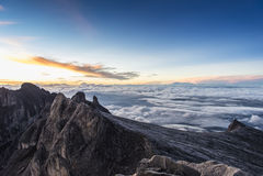 Sunrise on the mountain top Stock Photo