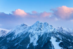 Sunrise mountain tops Stock Image