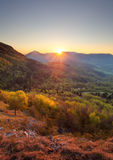Sunrise in mountain, vertical photo.  royalty free stock images