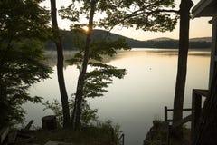 Sunrise on Mountain View Lake, Sunapee, New Hampshire. Royalty Free Stock Image
