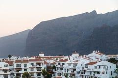 Before sunrise mountain view on Tenerife hotel resorts Stock Photography