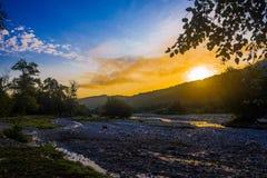 Sunrise in mountain Stock Photos