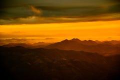 Sunrise on Mountain of yellow Royalty Free Stock Image
