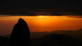 Sunrise at mountains Royalty Free Stock Photography
