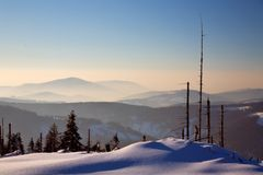 Sunrise in mountains royalty free stock photo