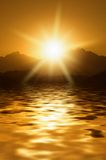 Sunrise in mountains. Picture of a Sunrise in mountains Royalty Free Stock Photos