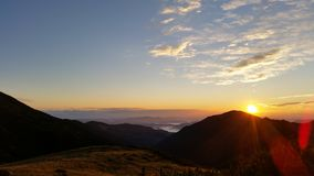 Sunrise. In mountains Royalty Free Stock Images