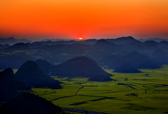 Sunrise of the mountains Royalty Free Stock Photography