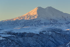Sunrise in the mountains Elbrus, Northern Caucasus, Russia Royalty Free Stock Images