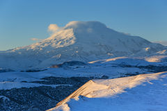 Sunrise in the mountains Elbrus, Northern Caucasus, Russia Stock Photography