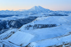 Sunrise in the mountains Elbrus, Northern Caucasus, Russia Royalty Free Stock Image