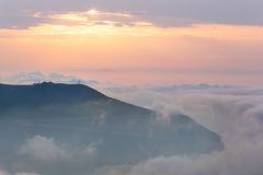 Sunrise in the mountains. Royalty Free Stock Photo