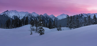 Sunrise at the Mountains Royalty Free Stock Photo