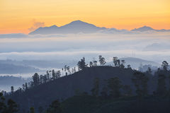 Sunrise in mountains Royalty Free Stock Image