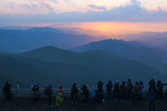 Sunrise in mountains Royalty Free Stock Photography