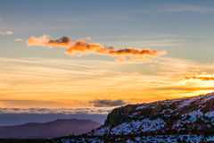 Sunrise in the mountains. Sunrise view from Mount Charleston Resort in Nevada Stock Images