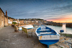 Sunrise at Mousehole in Cornwall. Sunrise at Mousehole, a pretty fishing village near Penzance in Cornwall Royalty Free Stock Images