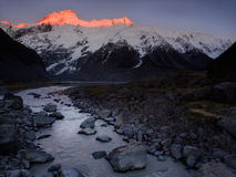 Sunrise at Mt Cook, Hooker Valley Stock Image