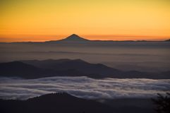 Sunrise, Mt. Jefferson, Willamette Valley Stock Image