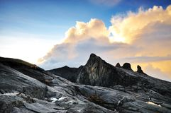 Sunrise in Mt.Kinabalu. Mt.Kinabalu is Malaysia's highest mountain and its located in Sabah Borneo, East Malaysia royalty free stock image