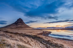 Sunrise at Mt.  Kirkjufell, Iceland Stock Photography