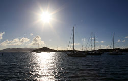 Sunrise at Muller Bay in St Thomas Stock Image
