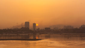 Sunrise at Mumbai, India royalty free stock photos