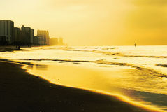 Sunrise in Myrtle Beach South Carolina Stock Image