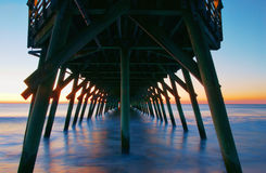 Sunrise at Myrtle Beach State Park Pier Stock Photos