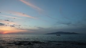 Sunrise Mysterious Island Vietnam Time Lapse Clip Asia. Time lapse movie high definition sunrise sky looking out over the south China sea in Nha Trang Bay stock video
