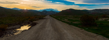 Sunrise n mountains. Scenic view of mountain road, Nature landscape, Sunrise in mountains Stock Images