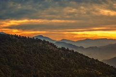 Sunrise at nainital. Beautiful sunrise at naini hills Royalty Free Stock Photography
