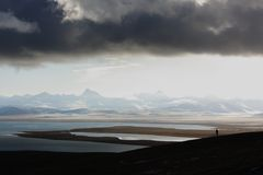 Sunrise at Namtso Lake Royalty Free Stock Photography
