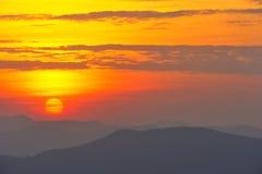 Sunrise at Nan province,North of thailand.  Stock Image