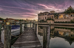 Sunrise at Naples, Florida. Colorful sunrise over Venetian Bay at Naples, Florida Royalty Free Stock Image