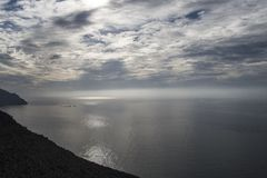 Sunrise in the Natural park of Cabo de Gata, Almeria, Spain Stock Photo
