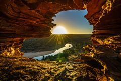 Sunrise at natures window in kalbarri national park, western australia 21. Sunrise at natures window in the desert of kalbarri national park, western australia stock photography